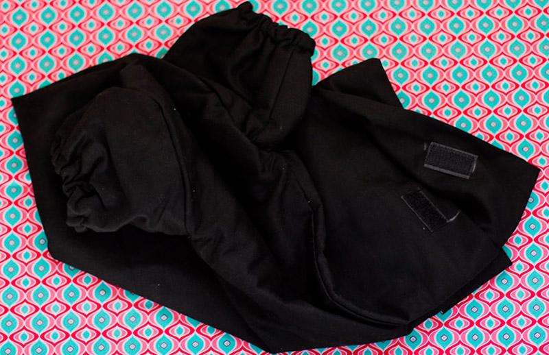 Saco preto Vai ser usado para colocar o negativo no espiral/tanque.