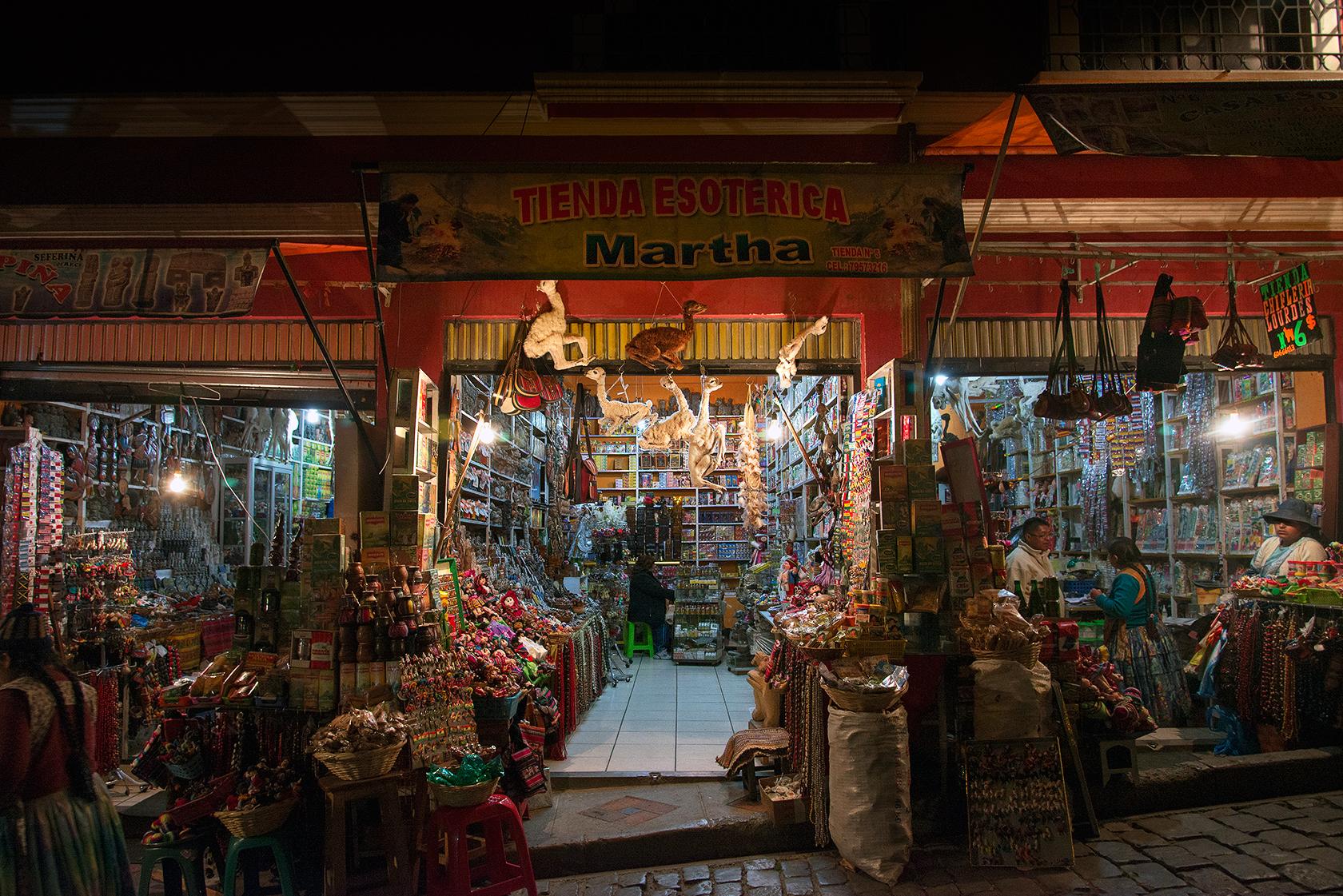 mercado de las brujas, la paz