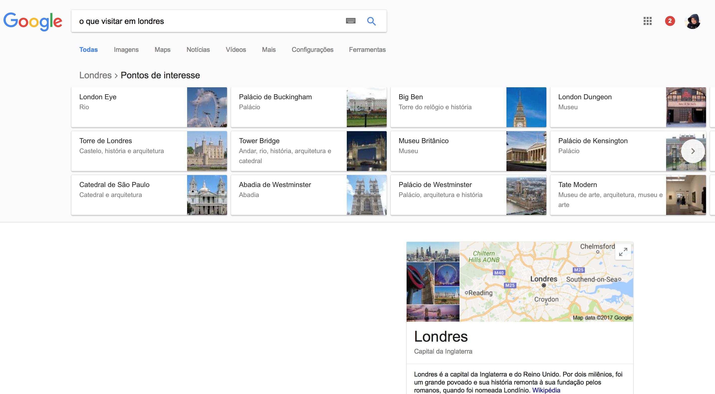google lugares visitar